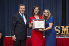 Foundation Scholarship Recipient Receives Honor