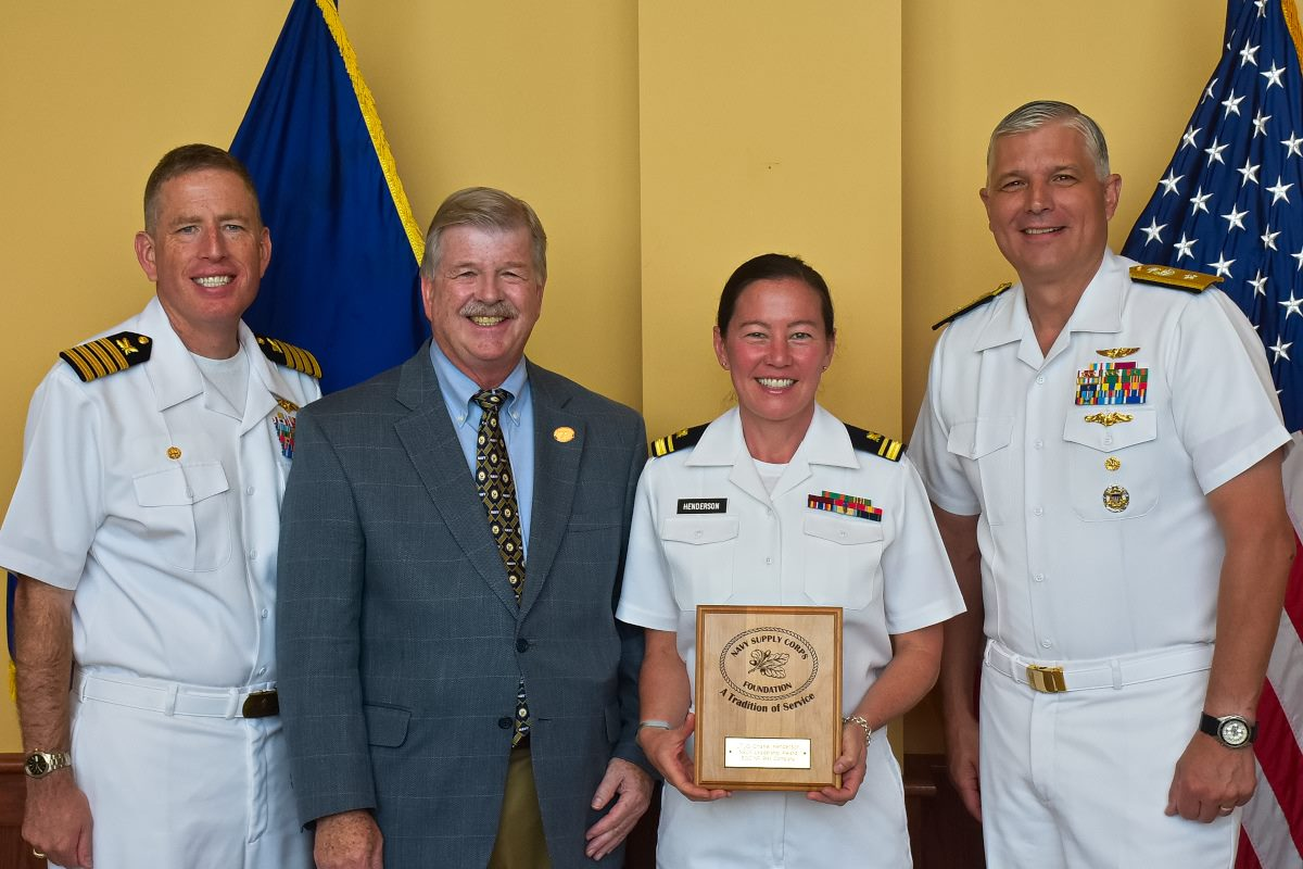 the us navy supply corps foundation leadership award was presented to ltjg chanel henderson and ens jorge mata at the bqc graduation on june 16 2017
